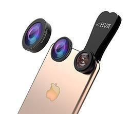BVH Pro 3 in 1 Camera Lens Kit 185° Fisheye Lens + 0.65X Wi