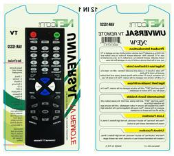 12 IN 1:Universal TV remote control works with all major bra