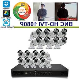 OwlTech 16 CH Tribrid BNC HD TVI DVR support up to 5 MP IP C