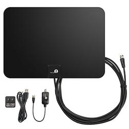 1byone Amplified HDTV Antenna - 50 Mile Range with Detachabl