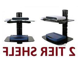2 LAYER SHELF STAND HD TV MOUNT PS4 XBOX BLU-RAY LED VERIZON
