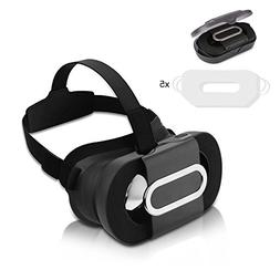 3D VR Headset Foldable, Topoint 3D VR Glasses Lightweight Po