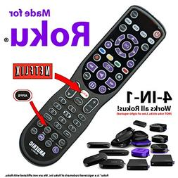 """""""Made for Roku"""" Anderic 4-Device Universal Remote Control fo"""