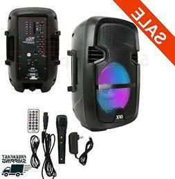 "8"" 4400Watt Portable FM Bluetooth Speaker Sound System Party"