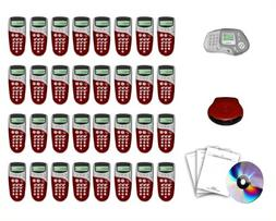 Qwizdom Complete Kit 32 Remotes  + Teacher's Remote Q5 Audie