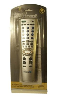 Universal Remote Control 5 Device - Silver TV,VCR,Cable/Sat,