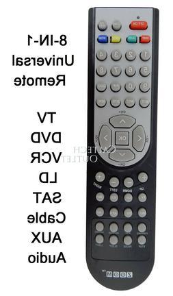 Universal Remote Controller 8 IN 1 TV DVD VCR Satellite Rece