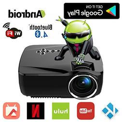 Android WiFi Bluetooth Projector , Support Full HD 1080P, ER