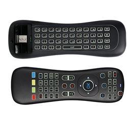 LED Backlit Gaming Keyboard Mouse,FATMOON Mini 2.4G RF Wirel