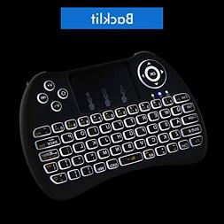 Lynec 2.4GHz Backlit Remote Wireless Keyboard Air Mouse and