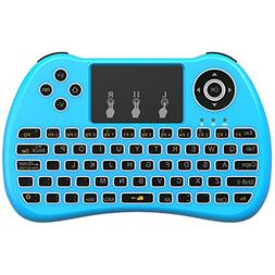 Aerb Backlit 2.4GHz Wireless Mini Keyboard H9 Pro, Mouse Tou