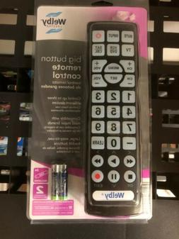 Welby Big Button Remote Control Universal Backlit Buttons Ne