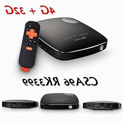 Black 4G/32G CSA96 Smart TV BOX RK3399 Octa Core WIFI Androi