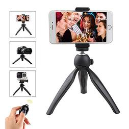 YanXi7 Bluetooth Selfie Stick Tripod For iPhone,360° Adjust