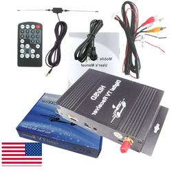 Car Digital TV ATSC Tuner Receiver Box with 4 Video Output f