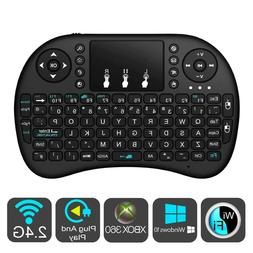 color backlit wireless keyboard remote touchpad mouse