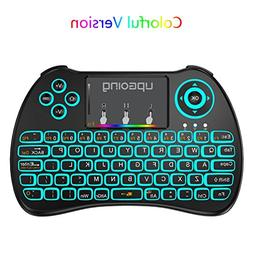 RGB Blacklit Mini Wireless Keyboard with Touchpad AMGUR 2.4G