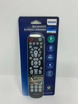 Philips 4 Device Universal Remote, Backlit, Big Buttons, Wor