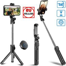 Extendable Selfie Stick Tripod Remote Control Shutter For iP