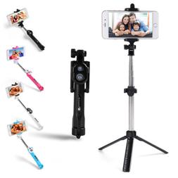 Extendable Wireless Remote Control Selfie Stick Tripod for i