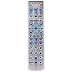 GE 33712 6-Device Universal Remote Control, Brushed Silver