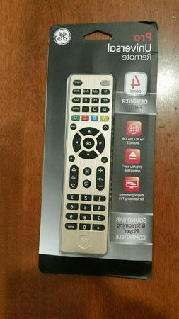 GE Pro Universal Remote Control 4 Device 33710 Brushed Silve