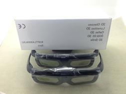 2 Pairs Genuine SHARP 3D Active Shutter Glasses Eyewear AN-3