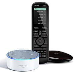 Echo Dot  - White + Logitech Harmony Elite