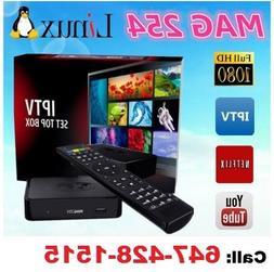 MAG 254 IPTV Full HD 3D Media Streamer STB - WiFi & HDMI Bun