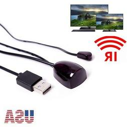 IR Infrared Remote Control USB Receiver Adapter Emitter Cabl