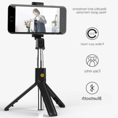 3 Bluetooth Selfie Stick Tripod Remote Camera