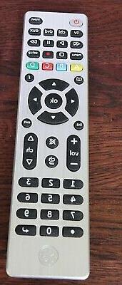 GE 4-Device Configuration Universal Remote, Silver