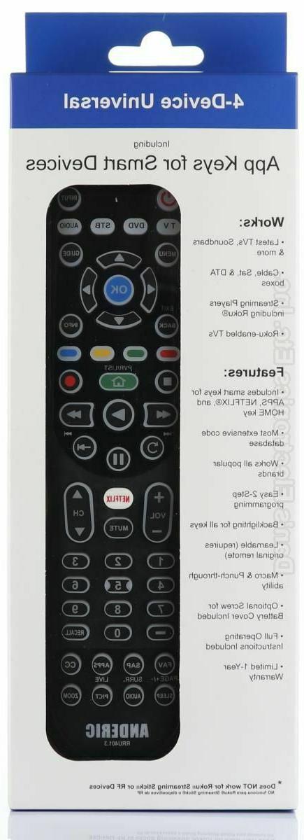 Anderic Remote Control SMART ROKU®,