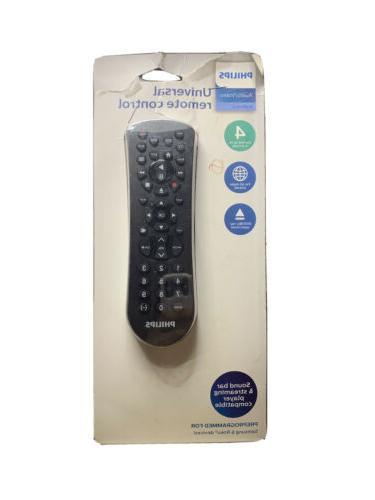 Philips 4 Device Universal Remote Control Sound Bar, Streami