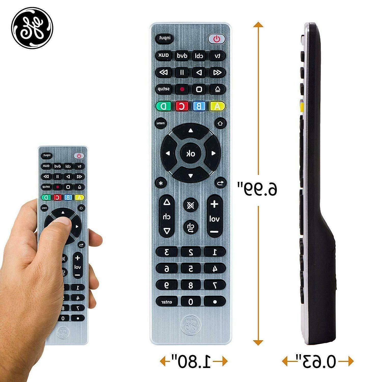 GE 4 Remote, Smart TVs, Vizio, Sony, Ray,