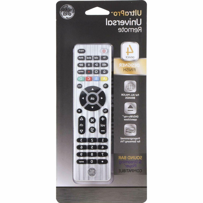 GE Universal Remote, TVs, Vizio, Blu DVD, Rok