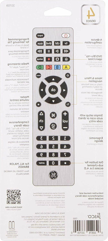 GE 4 Remote, Smart Vizio, DVD,