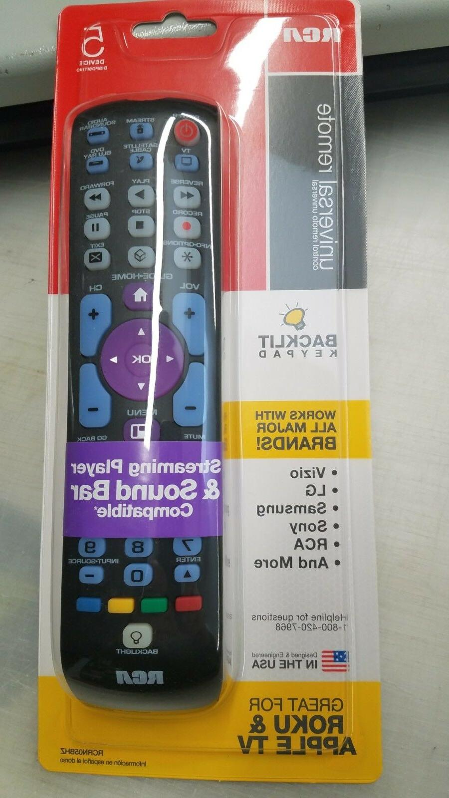 5 device universal tv soundbar roku remote