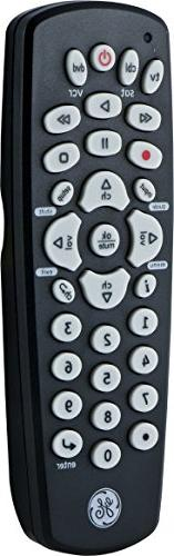 GE Device Remote, Compact Design, Works with TVs, Vizio, Sony, Blu Ray, DVD, Apple TV, Setup, Pre-Programmed TVs, 24991