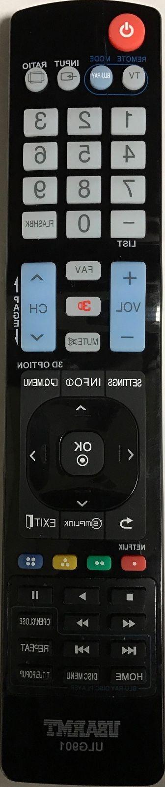 NEW LG Blu-Ray DVD Remote by programming Needed