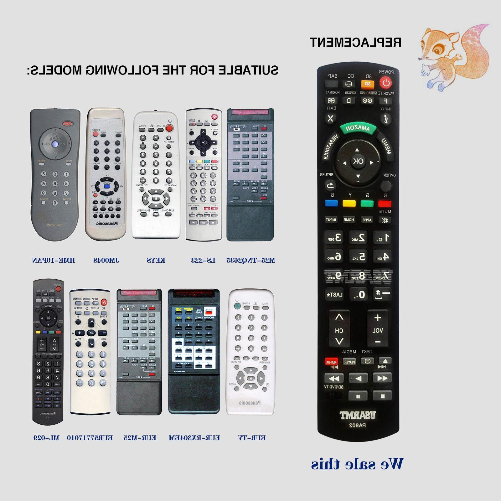 New Panasonic Replacement 2 in Remote Panasonic TV DVD