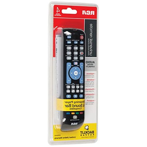RCA RCRN04GBE Four-Device Universal Remote,