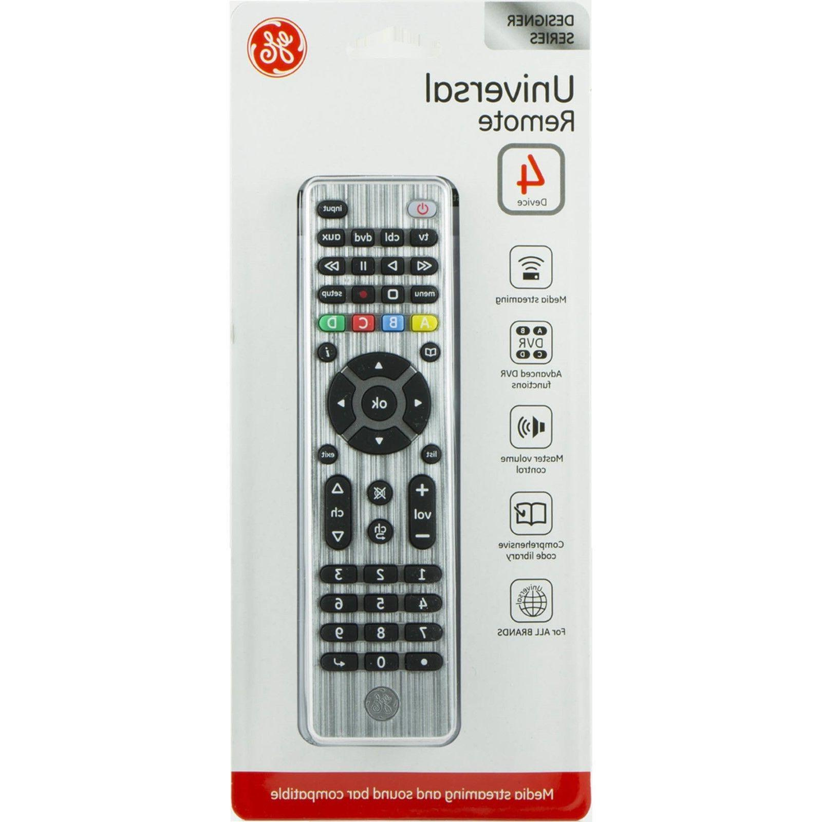 UNIVERSAL REMOTE 4 DEVICES MEDIA STREAMING&SOUND BAR COMPATI