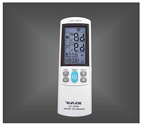 Universal AC Remote Control Replacement With 5/7 Timer
