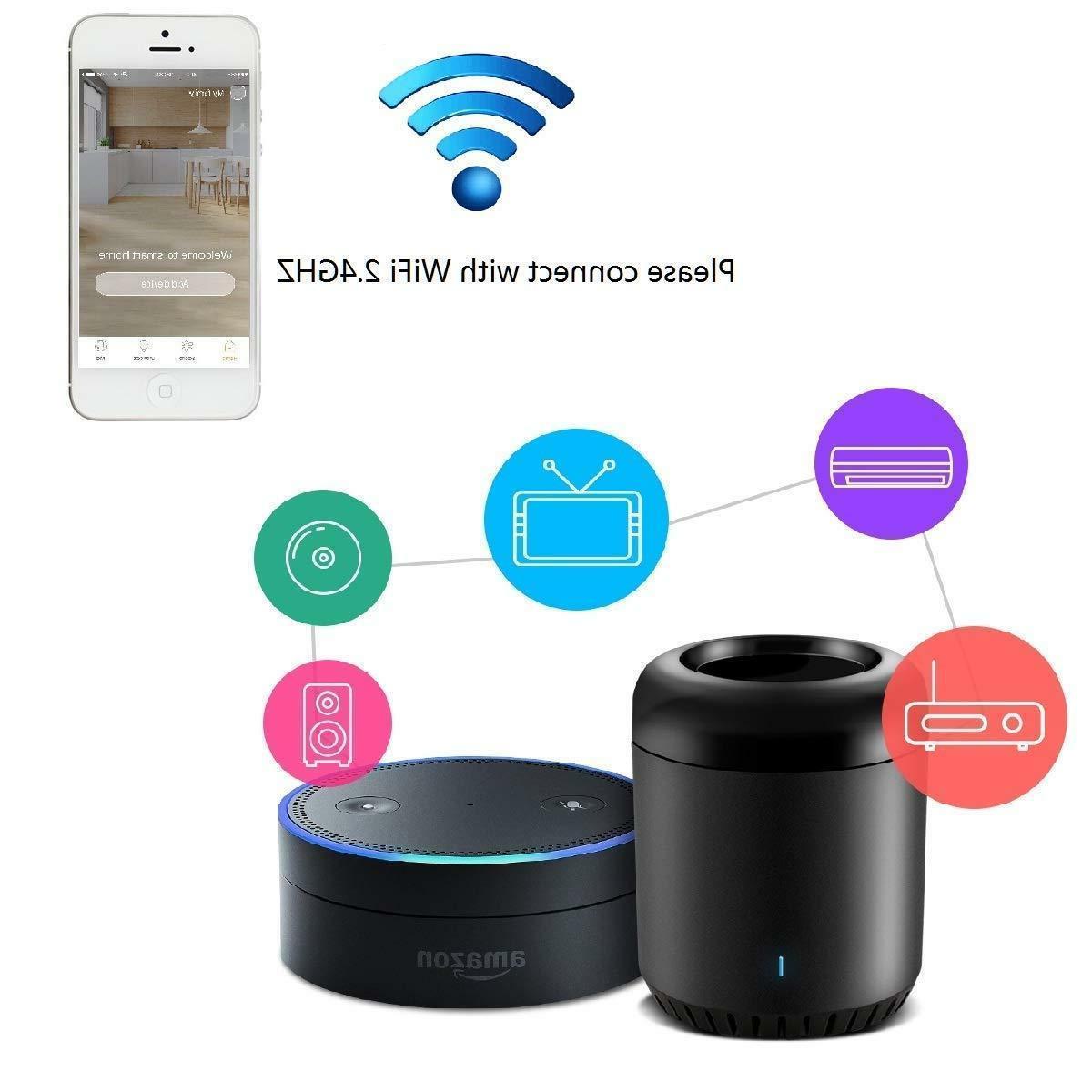 Broadlink Black Universal IR Compatible with Alexa