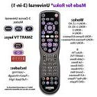 3-Device Universal Remote Control for Roku® TV's Sharp, TCL