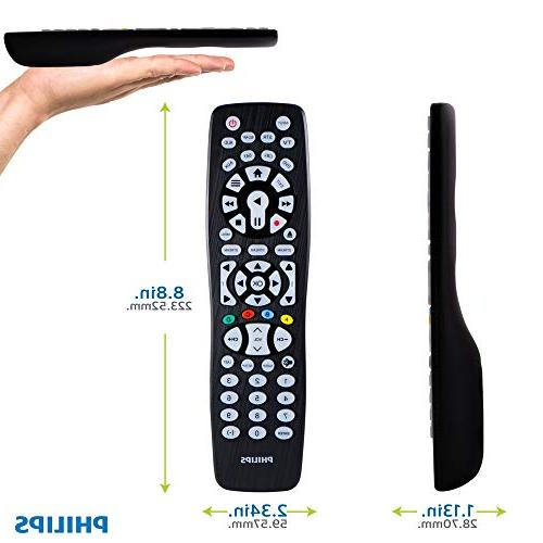 Philips Device Remote Control, Backlit, Button, Smart Ray, DVD, Roku, Players, Auto for Samsung TVs, SRP9488C/27