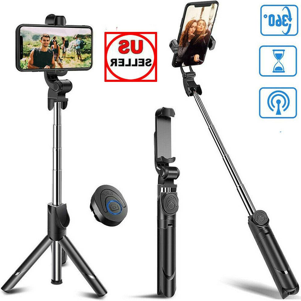 Extendable Selfie Stick Tripod Remote Control Shutter For iP