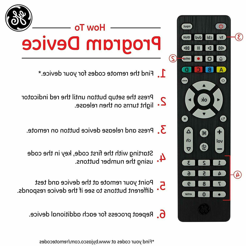 GE Remote Vizio DVD