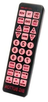 DeRoyal Illuminated Big Button Remote Control